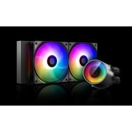 DEEP COOL CASTLE 240 RGB-V2 Soket Intel ve AMD destekli, Su bazlı İşlemci Soğutucusu