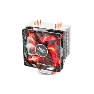 DEEP COOL GAMMAXX400_RED, Soket Intel ve AMD, 120x120x25mm Fan KIRMIZI Led  İşlemci Soğutucusu