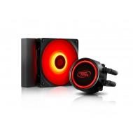 DEEP COOL GAMMAXX L120T-RED Soket Intel LGA1366 / LGA115X ve AMD AM4 / AM3 + / AM3 / AM2 + / AM2 / FM2 + / FM2 / FM1 destekli, Mavi LED li Sıvı bazlı İşlemci Soğutucusu