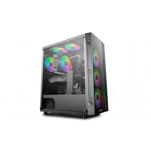 DEEP COOL MATREXX55 ADD-RGB 3F  E-ATX / ATX / Mikro ATX / Mini-ITX SİYAH KASA 3X120mm Led fan 1xUSB 3.0, 2xUSB 3.0, 1xAudio, 1xMic,RGB düğmesi PCI/AGP 370mm