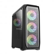 ZALMAN N5 MF ATX Mid Tower 4 RGB Fanlı Kasa 1 x Kulaklık, 1 x Mikrofon, 2 x USB 2.0, 1 x USB 3.0,  Fan Kontrol, Renkli Akralik Panel, PCI/AGP365mm