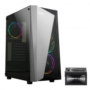 ZALMANS4-Plus(BL)-600W ATX Mid Tower Kasa 1 x Mikrofon 1 x Kulaklık, 1 x USB 3.0, 2 x USB 2.0, 1 x 120mm fan, Cam yan kapak, , PCI/AGP 330mm