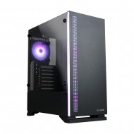 ZALMAN S5 Black ATX Mid Tower Kasa 1 x Mik., 1 x Kul., 1 x USB 3.0, 2 x USB 2.0, Fan Kontrol, 1 x 120mm RGB fan, 1 x 120mm fan, Cam yan kapak, PCI/AGP 340mm