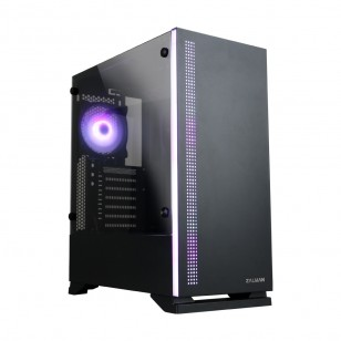 ZALMAN S5 Black ATX Mid Tower Kasa 1 x Mik., 1 x Kul., 1 x USB 3.0, 2 x USB 2.0, Fan Kontrol, 1 x 120mm RGB fan, 1 x 120mm fan, Cam yan kapak, PCI/AGP 340mm