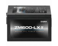 ZALMAN ZM600-LXII 600W Dayanıklı ve Güvenilir Yüksek Performanslı Active PVC li 120mm Fanlı Güç Kaynağ