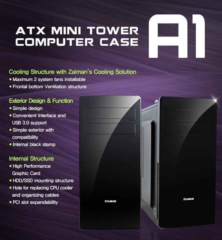 Zalman A1 Mini Tower Siyah Kasa