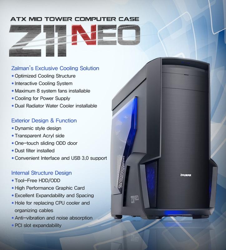 Zalman Z11 NEO Mid Tower Siyah Kasa